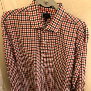 Ludlow Red Check Dress Shirt L